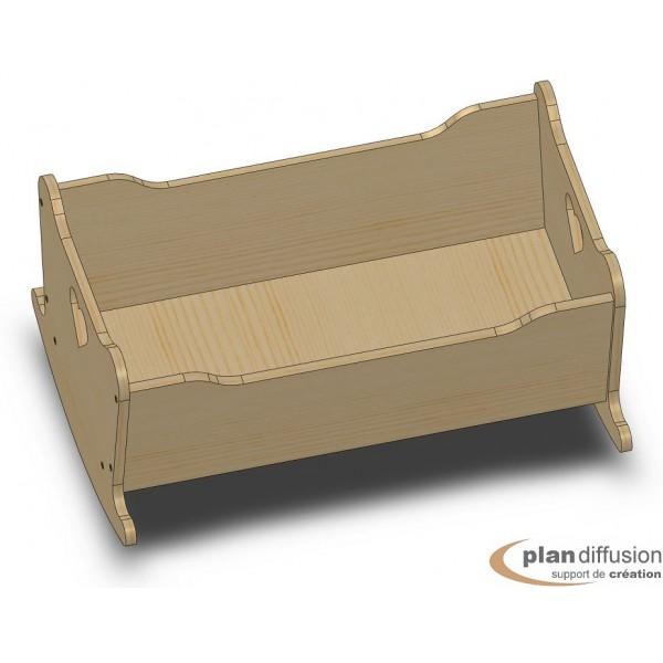 Berceau Bois Jouet : Plans de jouets en bois > Plan berceau en bois pour poupon
