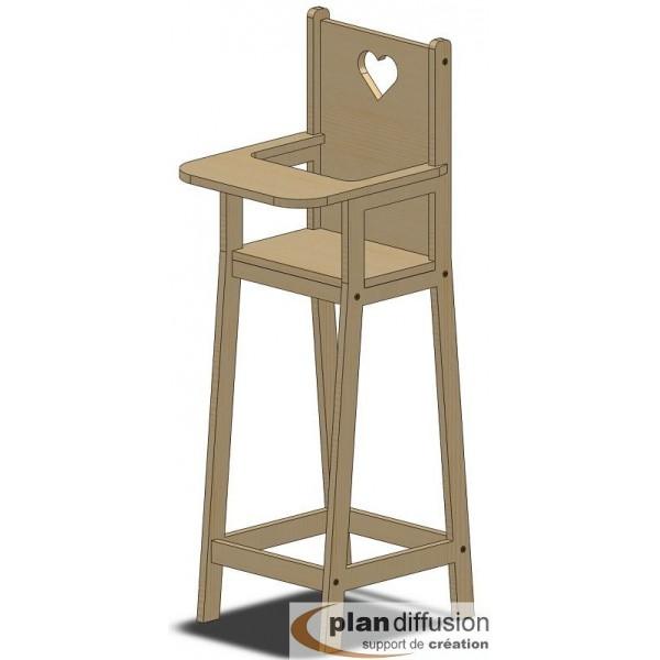 Comment fabriquer une chaise haute pour poup e for Chaise haute en bois