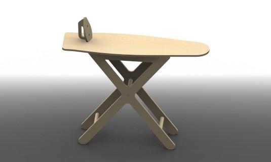 plans et patrons de fabrication d'une planche à repasser en bois pour enfant