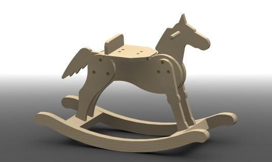 Plans cheval à bascule