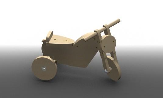guide réalisation d'un jouet enfant porteur moto en bois