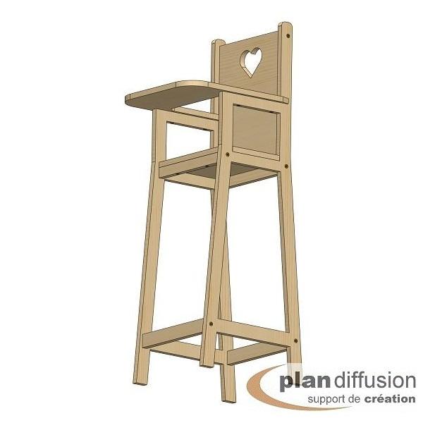 Comment fabriquer une chaise haute pour poup e - Plan de chaise longue en bois ...
