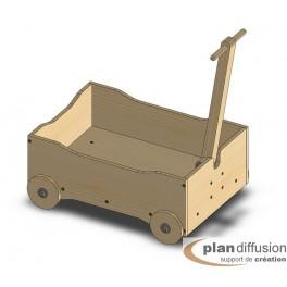 Plan chariot à roulettes