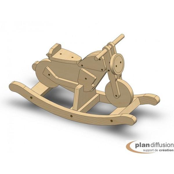 Comment fabriquer une moto à bascule en bois
