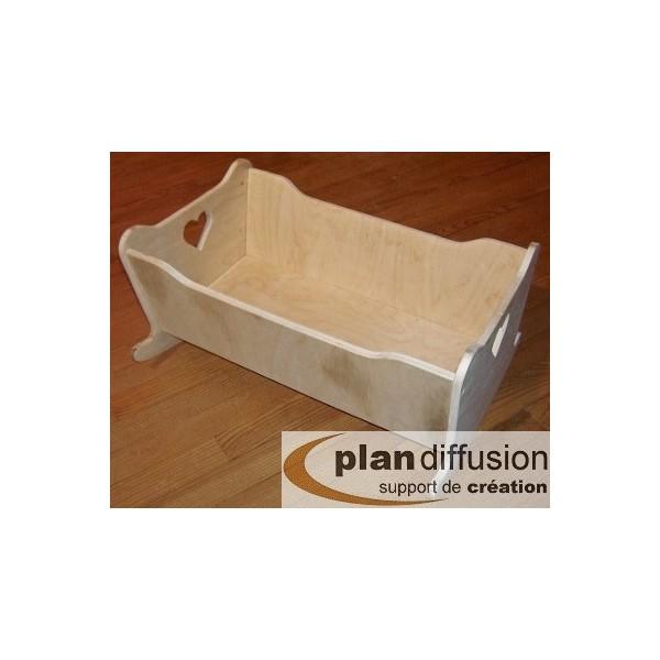 plan berceau en bois pour poupon plandiffusion. Black Bedroom Furniture Sets. Home Design Ideas