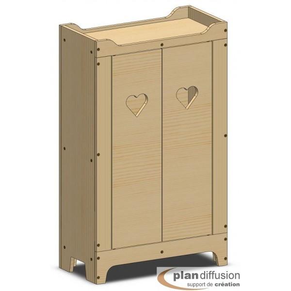 plan armoire en bois pour poup e plandiffusion. Black Bedroom Furniture Sets. Home Design Ideas