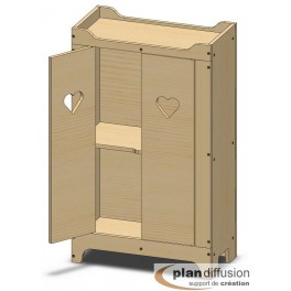 Plan armoire en bois pour poupée