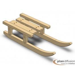 Plan de fabrication d'une luge traineau en bois