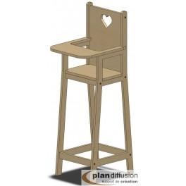 Plan chaise haute en bois pour poupée