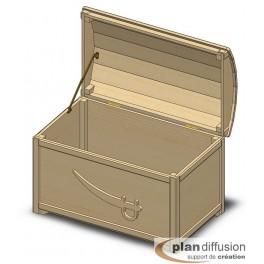Plan coffre a jouet en bois plandiffusion - Plan coffre a jouet en bois ...