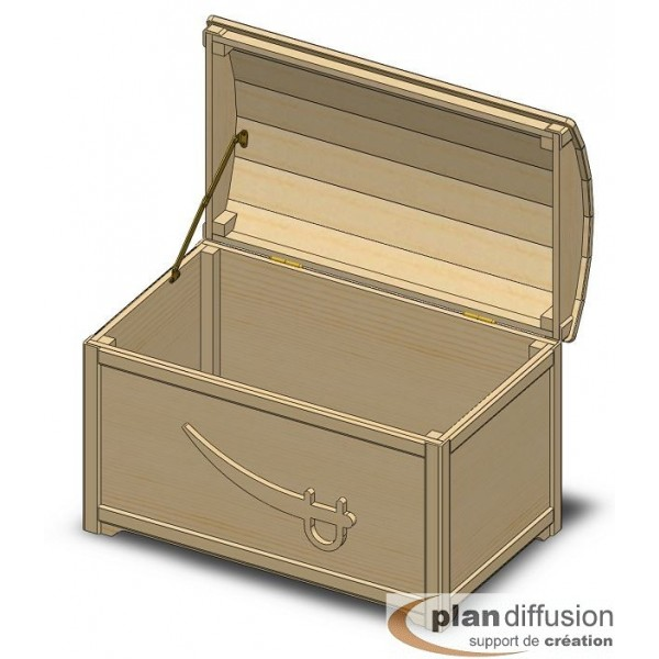 plan coffre a jouet en bois plandiffusion. Black Bedroom Furniture Sets. Home Design Ideas