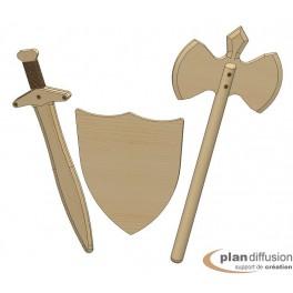 Panoplie armes de chevalier